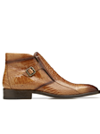 Antique Almond Ostrish Gregg Men Ankle Boot | Belvedere Shoes Collection | Sam's Tailoring Fine Mens Clothing