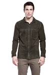 Forest Burke Goat Suede Men's Shirt | Aston Leather Jackets Collection | Sam's Tailoring Fine Men Clothing