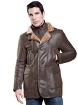 Rugged Castano Utica Men's Shearling Coat | Aston Leather Shearling Collection | Sam's Tailoring Fine Men Clothing
