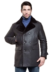 Rugged Santa Fe Ithaca Men Shearling Coat | Aston Leather Shearling Collection | Sam's Tailoring Fine Men Clothing