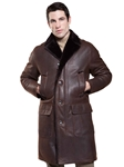 Rugged Cocoa Ashland Men's Shearling Jacket | Aston Leather Shearling Collection | Sam's Tailoring Fine Men Clothing