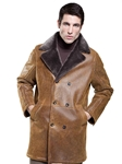 Rugged Whiskey Carson Men's Shearling Coat | Aston Leather Shearling Collection | Sam's Tailoring Fine Men Clothing