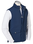 Navy Water Repellent Quilted Stretch Solid Vest | Bobby Jones Jackets Collection | Sams Tailoring Fine Men Clothing