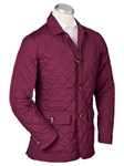 Merlot Hyland Water Repellent Quilted Mens Jacket | Bobby Jones Jackets Collection | Sams Tailoring Fine Men Clothing