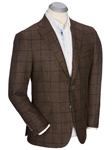Brown Worsted Wool Windowpane Men's Sport Coat | Bobby Jones Sport Coats Collection | Sams Tailoring Fine Men Clothing