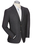 Charcoal Andrew Brushed Tailored Wool Solid Sport Coat | Bobby Jones Sport Coats Collection | Sams Tailoring Fine Men Clothing