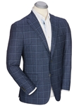 Blue James Wool-Cashmere Windowpane Sport Coat | Bobby Jones Sport Coats Collection | Sams Tailoring Fine Men Clothing