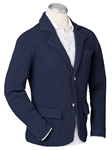 Navy Cable Knit Two Button Tailored Men Blazer | Bobby Jones Blazers Collection | Sams Tailoring Fine Men Clothing