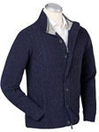 Navy Lined Performance Wool Sweater Jacket | Bobby Jones Jackets Collection | Sams Tailoring Fine Men Clothing