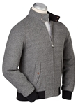 Heather Grey Barracuda Zipper Wool Jacket | Bobby Jones Jackets Collection | Sams Tailoring Fine Men Clothing