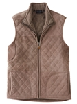 Chocolate Quilted Lamb Suede Men's Vest | Bobby Jones Vests Collection | Sams Tailoring Fine Men Clothing