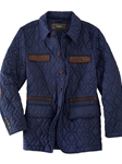 Navy Wesley Water Resistant Quilted Mens Jacket | Bobby Jones Jackets Collection | Sams Tailoring Fine Men Clothing