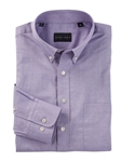 Purple Collins Herringbone Long Sleev Sport Shirt | Bobby Jones Shirts Collection | Sams Tailoring Fine Men's Clothing