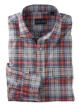 Red Braxton Peached Plaid Long Sleeve Work Shirt | Bobby Jones Shirts Collection | Sams Tailoring Fine Men's Clothing