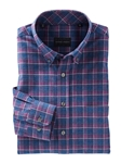 Blackberry Bauer Brushed Plaid Long Sleeve Shirt | Bobby Jones Shirts Collection | Sams Tailoring Fine Men's Clothing