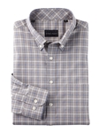 Blue Merrit Slub Weave Glen Plaid Long Sleeve Shirt | Bobby Jones Shirts Collection | Sams Tailoring Fine Men's Clothing