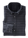 Charcoal Heather Allen Brushed Check Sport Shirt | Bobby Jones Shirts Collection | Sams Tailoring Fine Men's Clothing
