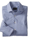 Purple Ettore Melange Check Long Sleeve Sport Shirt | Bobby Jones Shirts Collection | Sams Tailoring Fine Men's Clothing