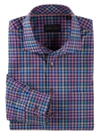 Navy Spruell Plaid Long Sleeve Sport Shirt | Bobby Jones Shirts Collection | Sams Tailoring Fine Men's Clothing
