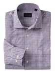 Purple Tobin Grid Long Sleeve Cotton Sport Shirt | Bobby Jones Shirts Collection | Sams Tailoring Fine Men's Clothing