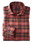Red Dawson Gingham Plaid Long Sleeve Work Shirt | Bobby Jones Shirts Collection | Sams Tailoring Fine Men's Clothing