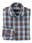Moss Green Tomlin Brushed Cotton Plaid Sport Shirt | Bobby Jones Shirts Collection | Sams Tailoring Fine Men's Clothing