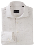 White Harlow Donegal Long Sleeve Sport Shirt | Bobby Jones Shirts Collection | Sams Tailoring Fine Men's Clothing