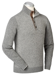 Heather Grey Box Jacquard Button Placket Sweater | Bobby Jones Sweaters Collection | Sams Tailoring Fine Men's Clothing