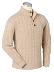Winter Performance Cotton-Wool Button Sweater | Bobby Jones Sweaters Collection | Sams Tailoring Fine Men's Clothing
