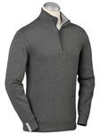 Charcoal Leaderboard Pima Cotton Long Sleeve Pullover | Bobby Jones Sweaters Collection | Sams Tailoring Fine Men's Clothing