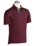 Merlot XH2O Boticelli Diamond Jacquard Polo Shirt | Bobby Jones Polos Collection | Sams Tailoring Fine Men's Clothing
