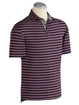 Merlot XH2O Alberti Block Stripe Jersey Polo Shirt | Bobby Jones Polos Collection | Sams Tailoring Fine Men's Clothing