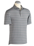 Graphite Heather XH2O Bondone Alternative Stripe Polo Shirt | Bobby Jones Polos Collection | Sams Tailoring Fine Men's Clothing