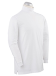 White Liquid Cotton Stretch Long Sleeve Turtleneck Shirt | Bobby Jones Polos Collection | Sams Tailoring Fine Men's Clothing