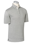Heather Grey Galilei Dask Jacquard Polo Shirt | Bobby Jones Polos Collection | Sams Tailoring Fine Men's Clothing