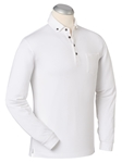 White EFX Cotton Blend With Pocket Polo Shirt | Bobby Jones Polos Collection | Sams Tailoring Fine Men's Clothing