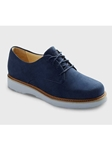 Navy Nubuck With Light Grey Sole Womens Shoe | Samuel Hubbard Women Shoes | Sam's Tailoring Fine Men Clothing