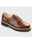 Whiskey Tan Leather With Black Lug Sole Shoe | Samuel Hubbard Women Shoes | Sam's Tailoring Fine Men Clothing