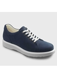 Navy Nubuck With Light Grey Sole Women Shoe | Samuel Hubbard Women Shoes | Sam's Tailoring Fine Men Clothing