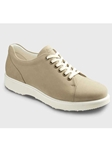 Light Taupe Nubuck With White Sole Women's Shoe | Samuel Hubbard Women Shoes | Sam's Tailoring Fine Men Clothing