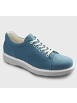 Sky Blue Nubuck With Light Grey Sole Women Shoe | Samuel Hubbard Women Shoes | Sam's Tailoring Fine Men Clothing