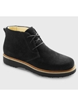 Black Suede With Black Sole Women's Boot | Samuel Hubbard Women Shoes | Sam's Tailoring Fine Men Clothing
