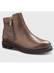 Taupe Leather With Black Sole Women's Boot | Samuel Hubbard Women Shoes | Sam's Tailoring Fine Men Clothing
