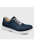 Midnight Blue Nubuck With White Sole Men's Shoe | Samuel Hubbard Shoes | Sam's Tailoring Fine Men Clothing