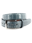 Blue Jean South American Caiman Belt | Torino Leather Belts | Sam's Tailoring Fine Men Clothing
