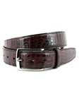Black Cherry South American Caiman Belt | Torino Leather Belts | Sam's Tailoring Fine Men Clothing