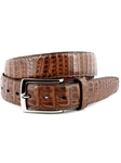 Antique Pecan South American Caiman Belt | Torino Leather Belts | Sam's Tailoring Fine Men Clothing
