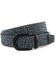 Navy/Black Multi Italian Braided Melange Rayon Elastic Belt | Torino Leather Belts | Sam's Tailoring Fine Men Clothing