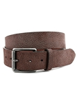 Brown Italian Anitqued Pebble Sueded Calfskin Belt | Torino Leather Belts | Sam's Tailoring Fine Men Clothing