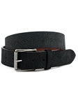 Black Italian Antiqued Pebble Sueded Calfskin Belt | Torino Leather Belts | Sam's Tailoring Fine Men Clothing